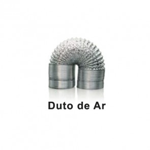 DUTO RETRATIL ALUMINIZADO 125MM 1M